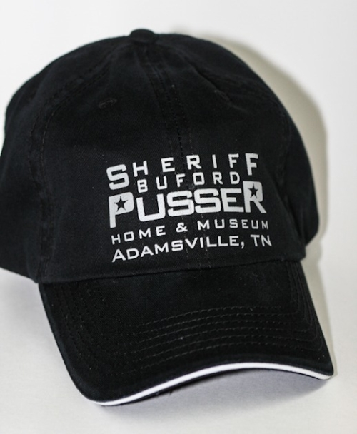 Black/Chrome Sheriff Buford Pusser Cap