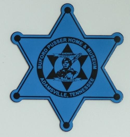 Buford Pusser Star Magnet Blue