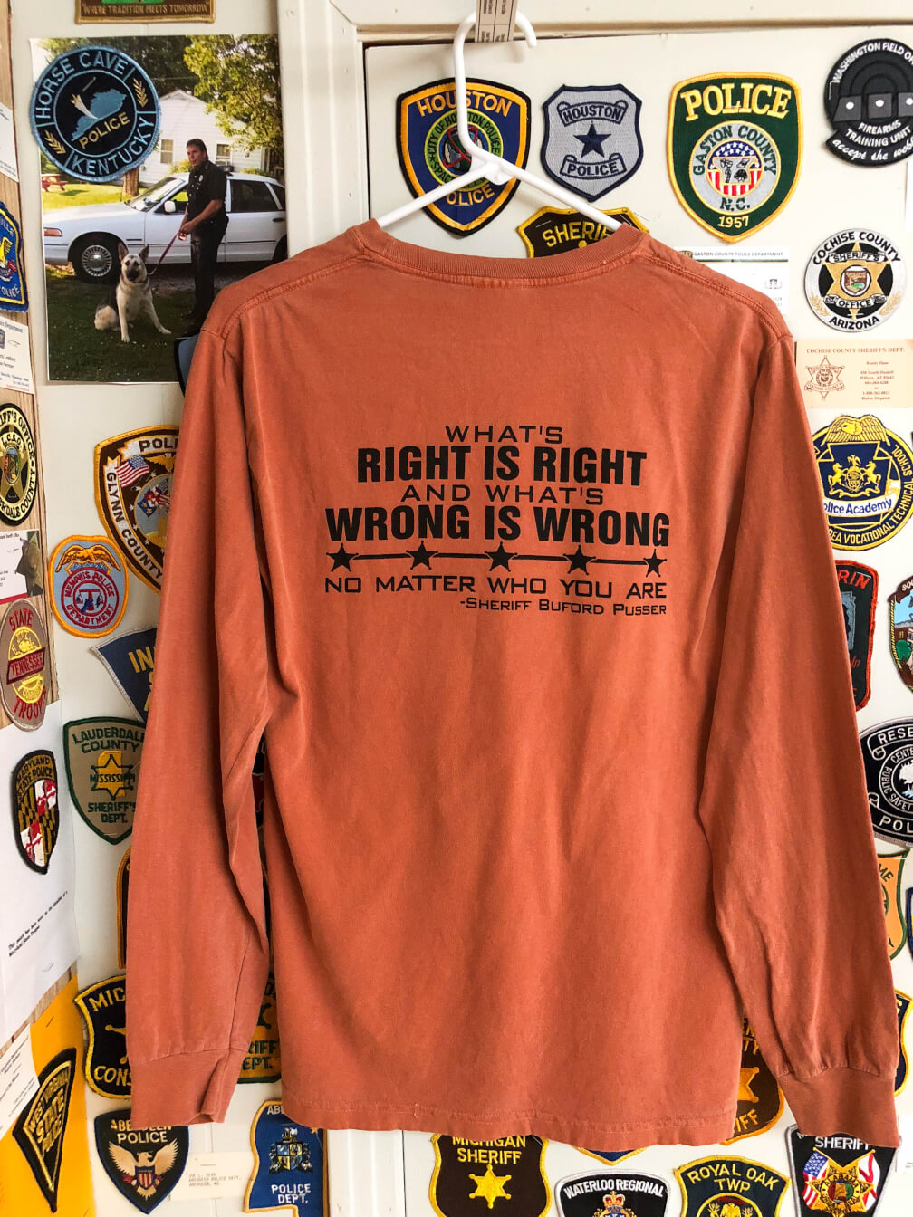 ebb5f1aade51 He Walked Tall - What's Right is Right - T-Shirt Long Yam - Sheriff ...