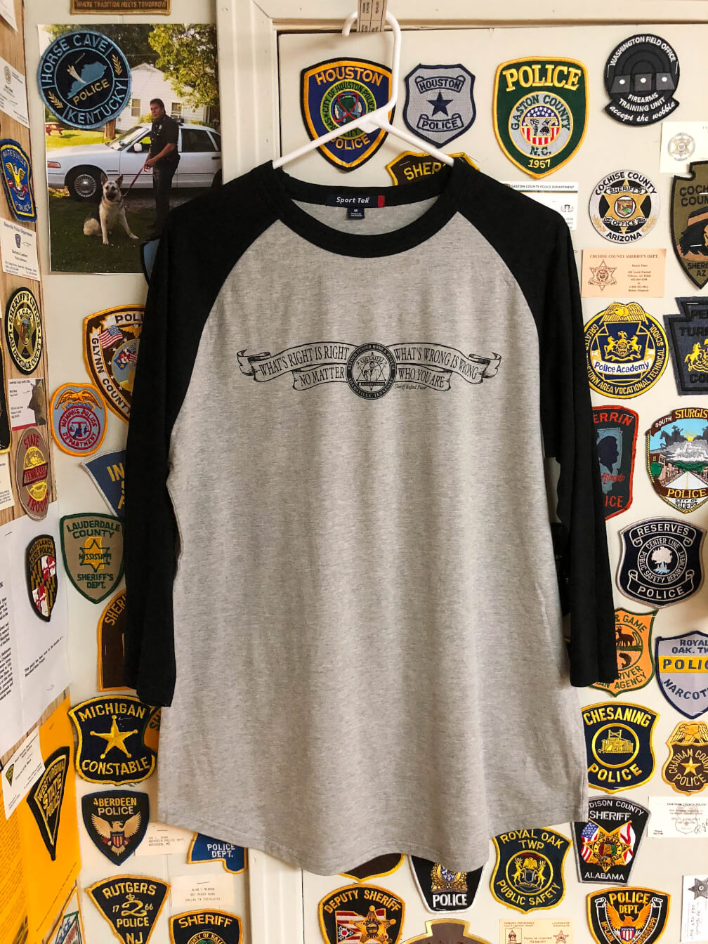 17e1e5fdb200 What's Right is Right - Baseball T-Shirt - Sheriff Buford Pusser Museum